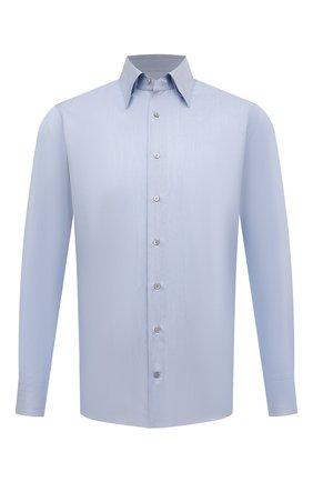 Мужская хлопковая сорочка ZILLI голубого цвета, арт. MFS-MERCU-01250/RZ01 | Фото 1