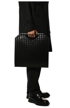 Мужская кожаная сумка-тоут BOTTEGA VENETA черного цвета, арт. 592782/VMBI0 | Фото 2