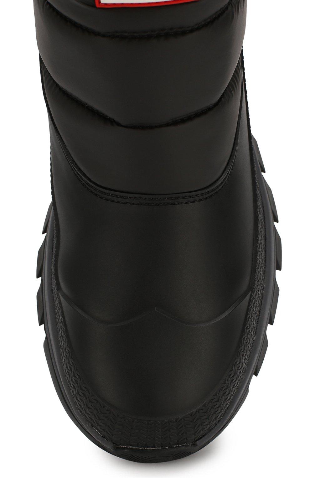 Мужские комбинированные сапоги HUNTER черного цвета, арт. MFS9104WWU | Фото 5