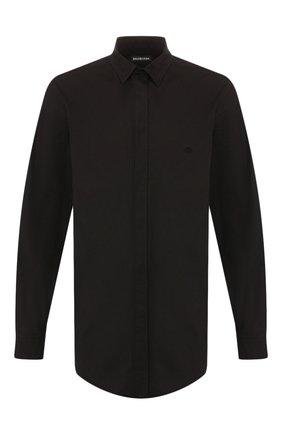 Мужская рубашка BALENCIAGA черного цвета, арт. 595285/TGM05 | Фото 1