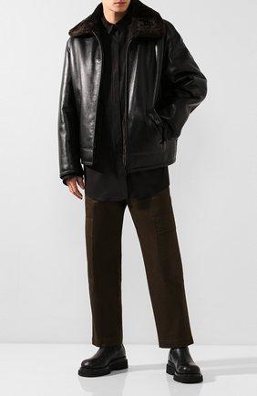 Мужская рубашка BALENCIAGA черного цвета, арт. 595285/TGM05 | Фото 2