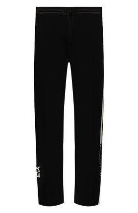 Мужской хлопковые брюки Y-3 черного цвета, арт. FJ0373/M | Фото 1