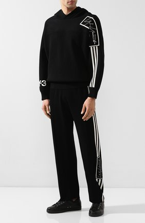 Мужской хлопковые брюки Y-3 черного цвета, арт. FJ0373/M | Фото 2