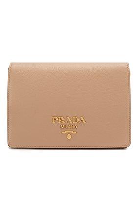 Женская сумка PRADA бежевого цвета, арт. 1BD102-2BBE-F0770-NOM | Фото 1