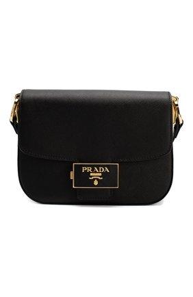 Женская сумка embleme PRADA черного цвета, арт. 1BD217-NZV-F0002-OUO | Фото 1