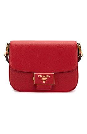 Женская сумка embleme PRADA красного цвета, арт. 1BD217-NZV-F068Z-OUO | Фото 1