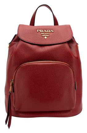 Женский рюкзак PRADA красного цвета, арт. 1BZ035-2BBE-F0041-OOO | Фото 1