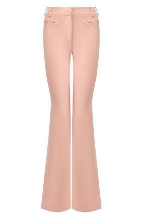 Женские шерстяные расклешенные брюки со стрелками TOM FORD розового цвета, арт. PAW159-FAX431 | Фото 1