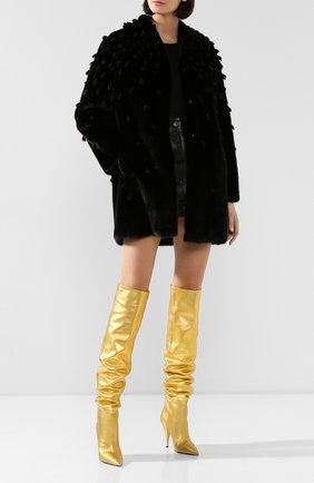 Женская шуба из меха норки VALENTINO черного цвета, арт. SF3FA7331BF | Фото 2