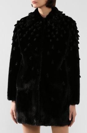 Женская шуба из меха норки VALENTINO черного цвета, арт. SF3FA7331BF | Фото 3