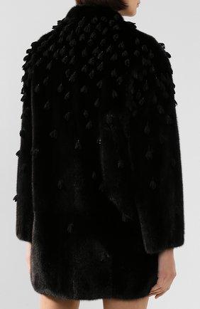 Женская шуба из меха норки VALENTINO черного цвета, арт. SF3FA7331BF | Фото 4