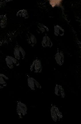 Женская шуба из меха норки VALENTINO черного цвета, арт. SF3FA7331BF | Фото 5
