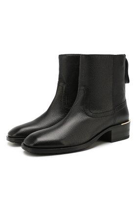 Женские кожаные ботинки halbert JIMMY CHOO черного цвета, арт. HALBERT FLAT/GNL | Фото 1