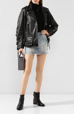 Женские кожаные ботинки halbert JIMMY CHOO черного цвета, арт. HALBERT FLAT/GNL | Фото 2