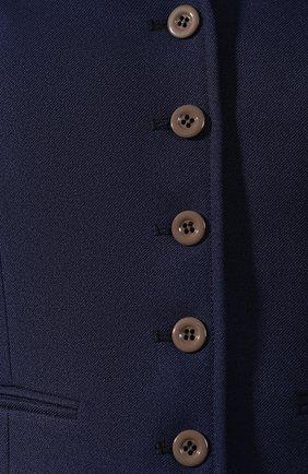 Женский жилет GUCCI синего цвета, арт. 582516/Z798C | Фото 5 (Материал внешний: Синтетический материал; Женское Кросс-КТ: Жилет-одежда; Длина (верхняя одежда): Короткие; Материал подклада: Вискоза; Статус проверки: Проверена категория)