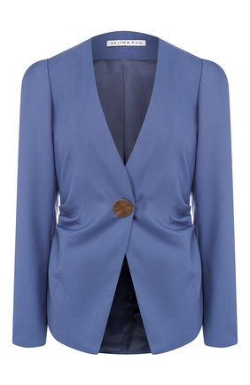 Женский шерстяной жакет REJINA PYO синего цвета, арт. B090/JAPANESE W00L | Фото 1