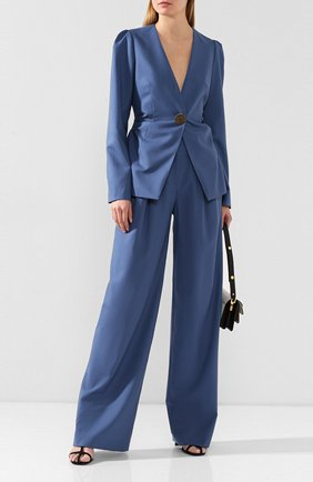 Женский шерстяной жакет REJINA PYO синего цвета, арт. B090/JAPANESE W00L | Фото 2