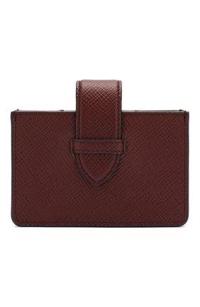 Женский кожаный футляр для кредитных карт SMYTHSON коричневого цвета, арт. 1024036   Фото 1