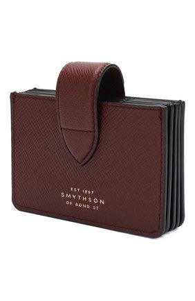Женский кожаный футляр для кредитных карт SMYTHSON коричневого цвета, арт. 1024036   Фото 2
