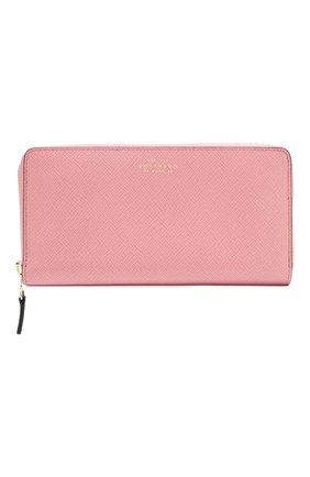 Женские кожаный кошелек SMYTHSON розового цвета, арт. 1025634   Фото 1