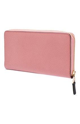 Женские кожаный кошелек SMYTHSON розового цвета, арт. 1025634   Фото 2