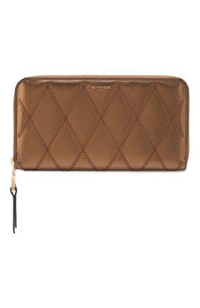 Женские кожаный кошелек gv3 GIVENCHY золотого цвета, арт. BB608NB0QP | Фото 1