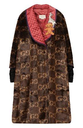 Детская пальто GUCCI коричневого цвета, арт. 570972/ZAB8U | Фото 1
