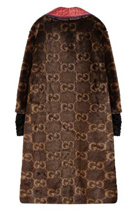 Детская пальто GUCCI коричневого цвета, арт. 570972/ZAB8U | Фото 2