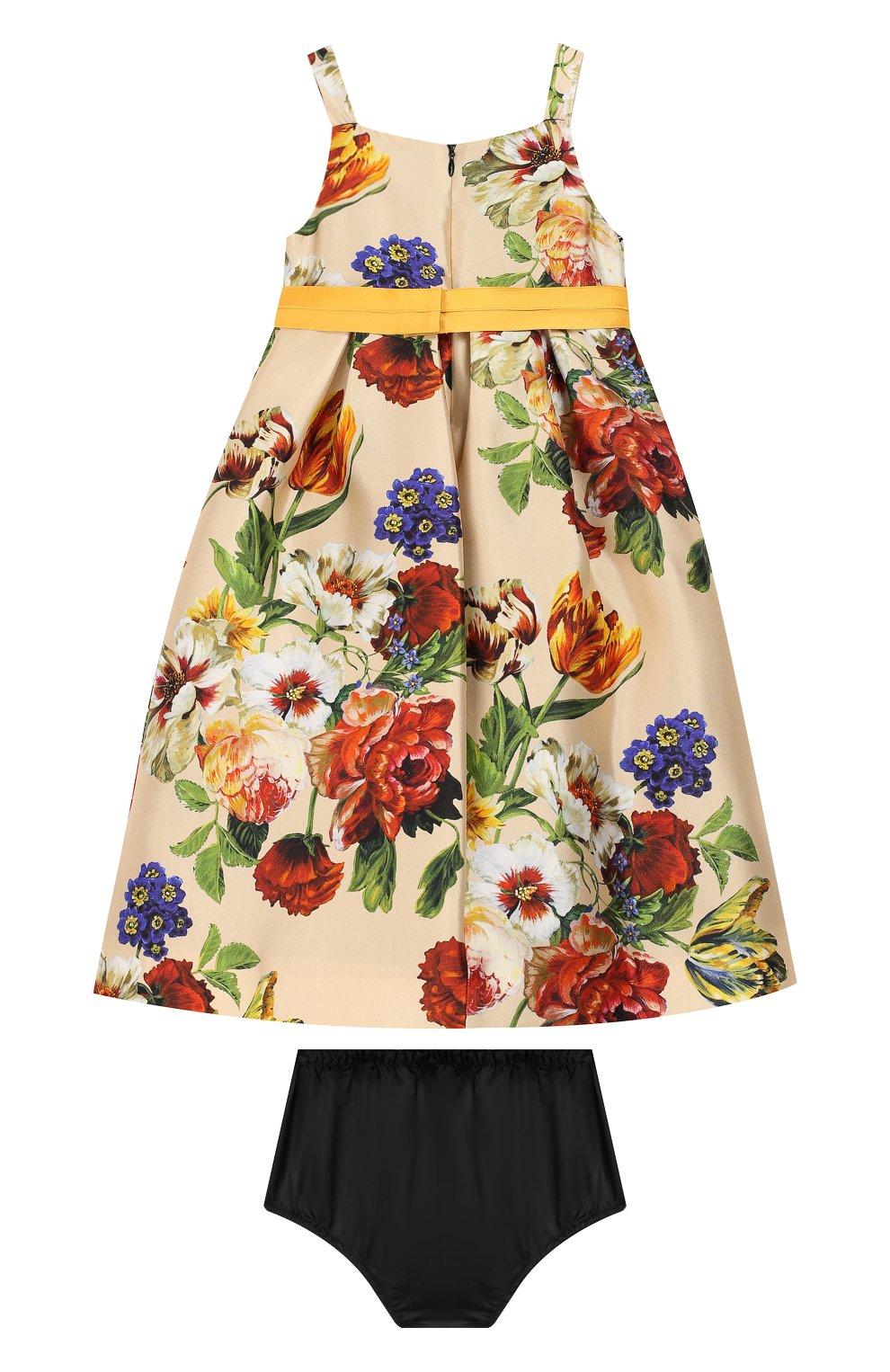 Женская комплект из платья и шорт DOLCE & GABBANA бежевого цвета, арт. L22DA2/HS18Q | Фото 2