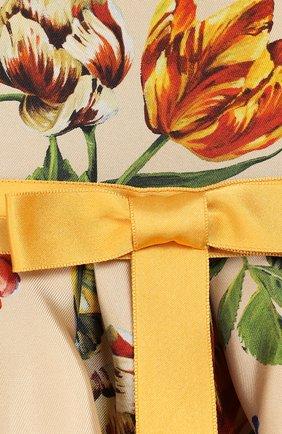 Женская комплект из платья и шорт DOLCE & GABBANA бежевого цвета, арт. L22DA2/HS18Q | Фото 3