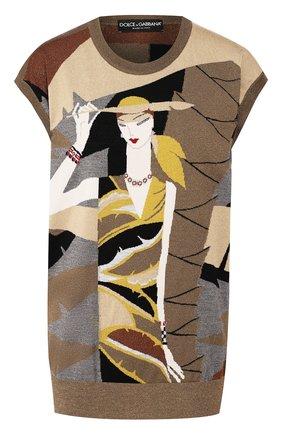 Женский шерстяной жилет DOLCE & GABBANA бежевого цвета, арт. FX600T/JAMJ4 | Фото 1