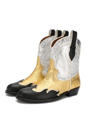 Детские ботинки MAISON MANGOSTAN золотого цвета, арт. 9319-000/35-39 | Фото 1
