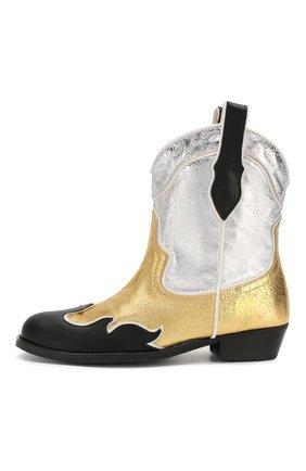 Детские ботинки MAISON MANGOSTAN золотого цвета, арт. 9319-000/35-39 | Фото 2