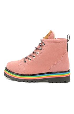 Детские замшевые ботинки MAISON MANGOSTAN розового цвета, арт. 9393-001/28-34 | Фото 2
