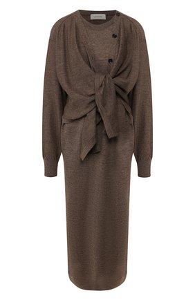 Женское платье LEMAIRE коричневого цвета, арт. W 193 KN401 LK087 | Фото 1