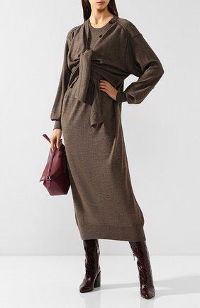 Женское платье LEMAIRE коричневого цвета, арт. W 193 KN401 LK087 | Фото 2