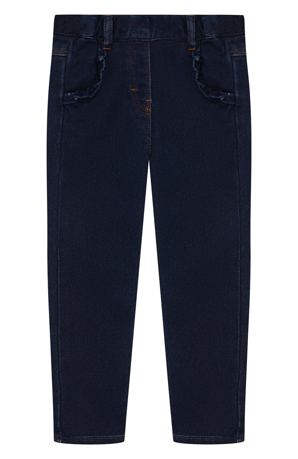 Детские джинсы TARTINE ET CHOCOLAT темно-синего цвета, арт. TP22041/18M-3A | Фото 1 (Материал внешний: Хлопок; Ростовка одежда: 18 мес | 86 см, 24 мес | 92 см, 36 мес | 98 см)