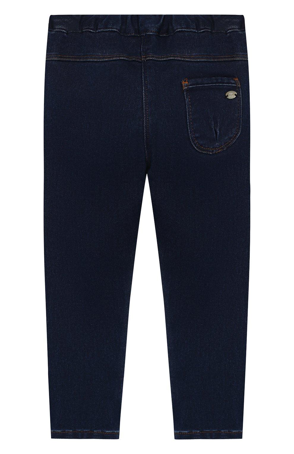 Детские джинсы TARTINE ET CHOCOLAT темно-синего цвета, арт. TP22041/18M-3A | Фото 2 (Материал внешний: Хлопок; Ростовка одежда: 18 мес | 86 см, 24 мес | 92 см, 36 мес | 98 см)