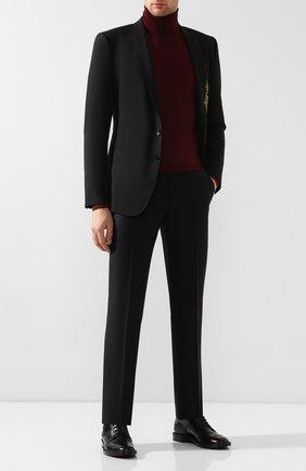 Мужской кожаные дерби DOLCE & GABBANA черного цвета, арт. A10472/AA385 | Фото 2
