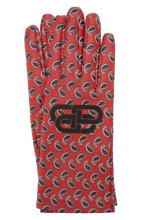 Мужские кожаные перчатки BALENCIAGA бордового цвета, арт. 591977/453B8 | Фото 1