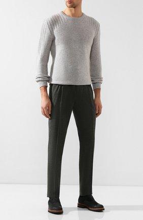 Мужской шерстяные брюки BRIONI темно-серого цвета, арт. RPN60L/06AAF/D0L0MIA | Фото 2