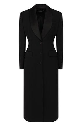 Женское шерстяное пальто DOLCE & GABBANA черного цвета, арт. F0Y77T/FUCEG | Фото 1