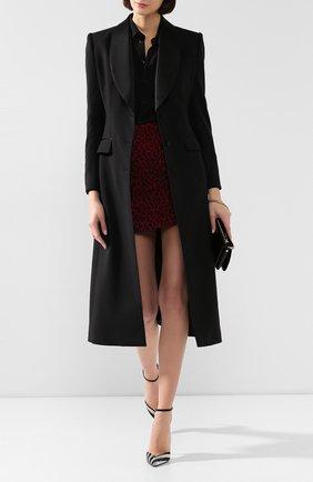 Женское шерстяное пальто DOLCE & GABBANA черного цвета, арт. F0Y77T/FUCEG | Фото 2