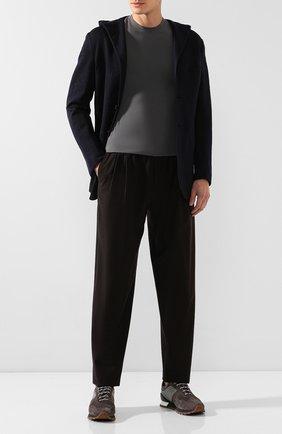 Мужской шерстяной пиджак KITON темно-синего цвета, арт. UGS0104K01S89   Фото 2