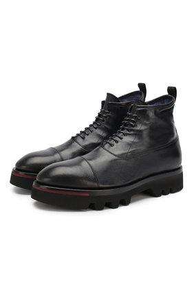 Мужские кожаные ботинки RAPARO темно-синего цвета, арт. I19092/MARTE+IGNIS TC | Фото 1