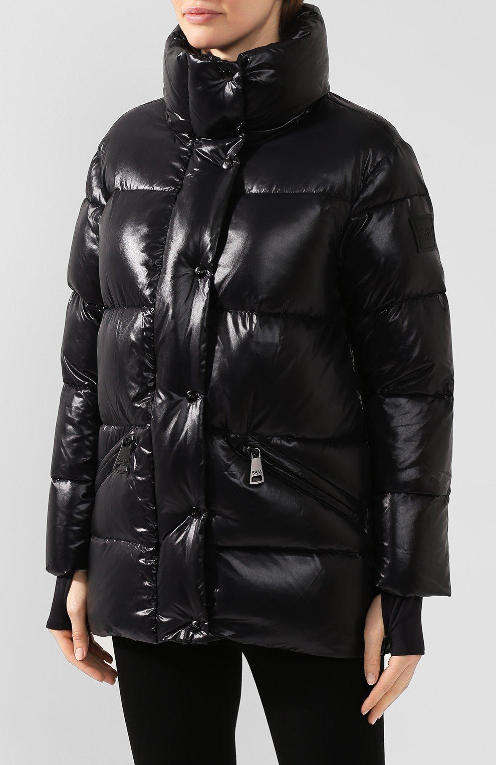 Женский стеганый пуховик SAM черного цвета, арт. XW9115NDA | Фото 3