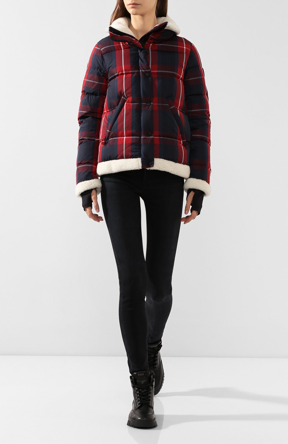 Женский пуховая куртка SAM красного цвета, арт. XW9074UDQ | Фото 2