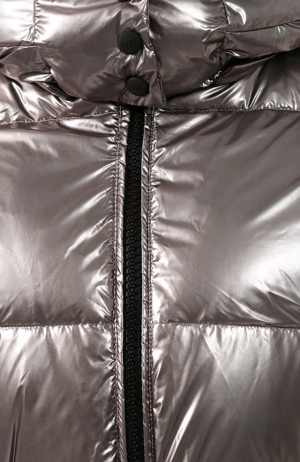 Женский пуховик SAM серебряного цвета, арт. XW9072NDA   Фото 5