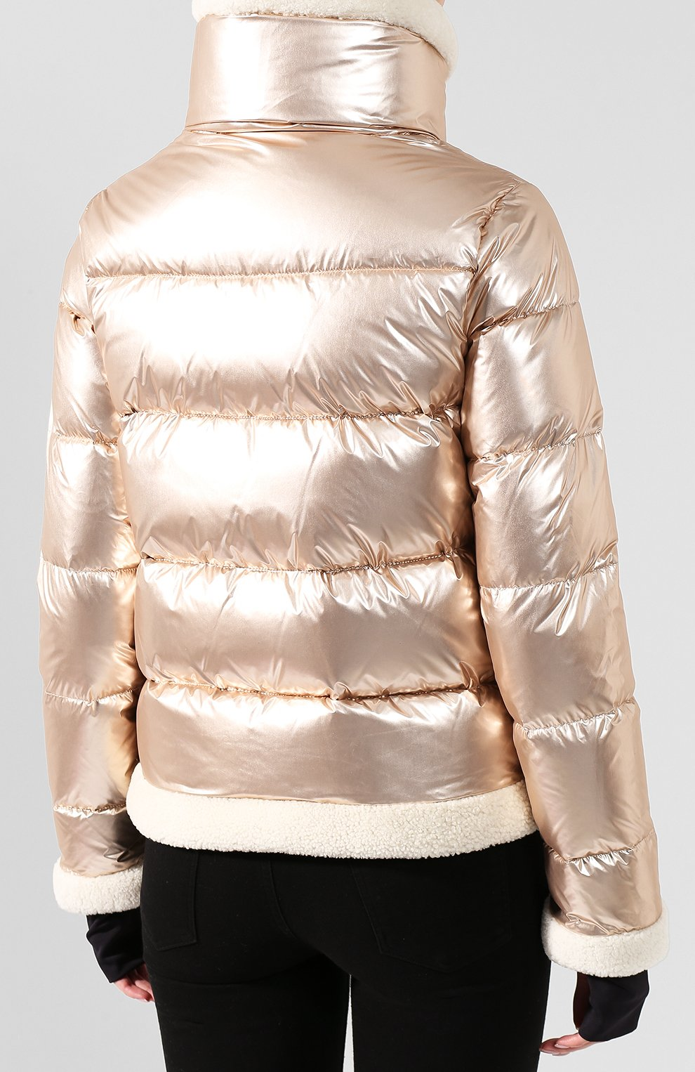 Женский пуховая куртка SAM золотого цвета, арт. XW9050NDQ | Фото 4