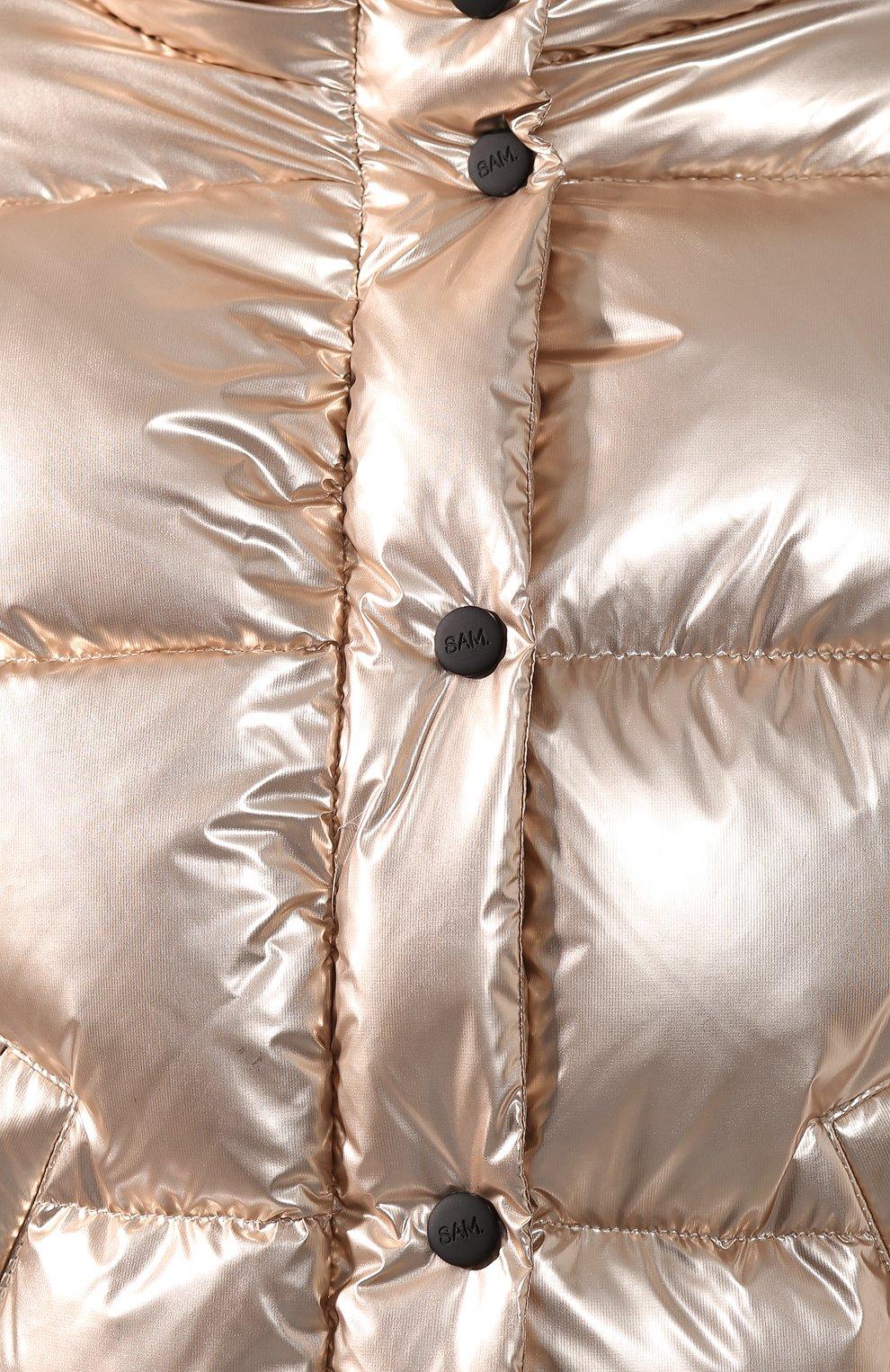Женский пуховая куртка SAM золотого цвета, арт. XW9050NDQ | Фото 5